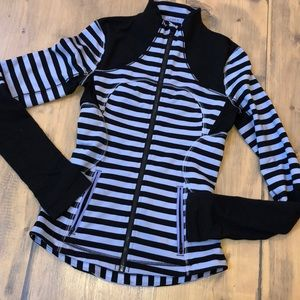 Lululemon athletica zip up striped sweatshirt